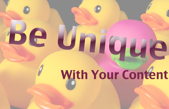 Unique content is needed to stand out in the world of ecommerce